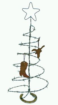 Barbed Wire Xmas Tree