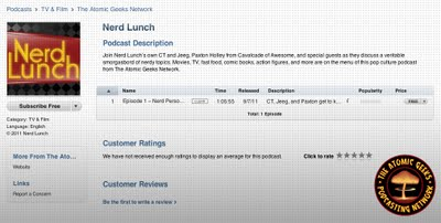 Nerd Lunch iTunes
